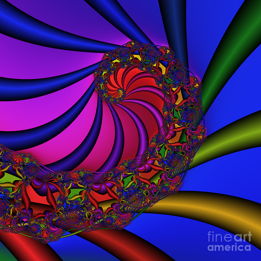 Abstract Digital Art - Ear Harp 176 by Rolf Bertram