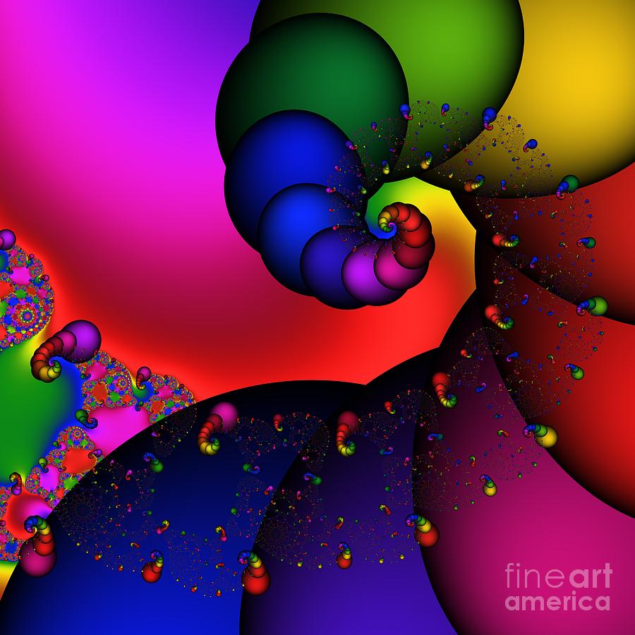 Abstract Digital Art - Ear Worm 174 by Rolf Bertram