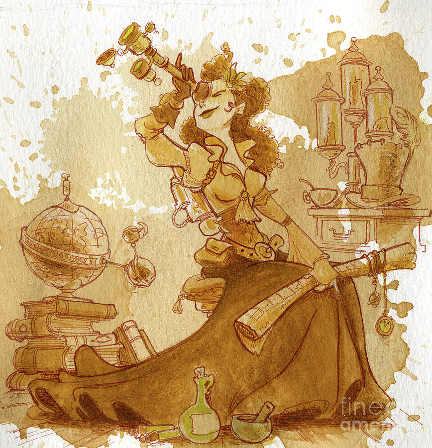 Steampunk Painting - Earl Grey by Brian Kesinger