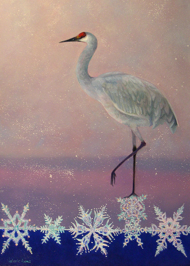 Snowflake Painting - Early Arrival by Valerie Aune