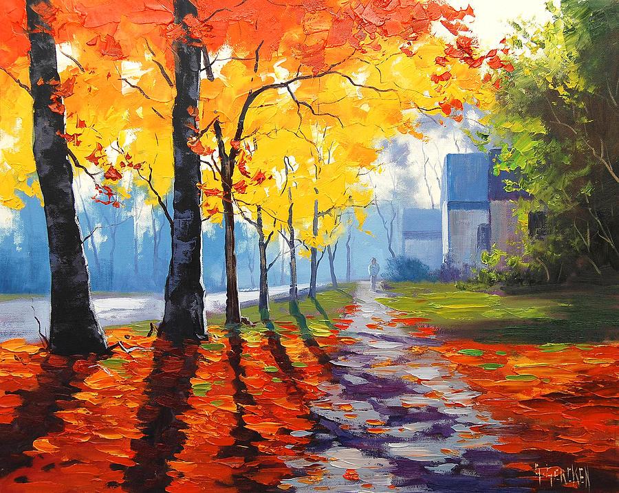 Golden Autumn Paintings Painting - Early Autumn Light by Graham Gercken