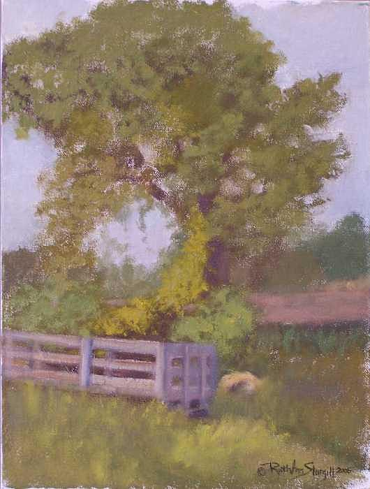 Early Autumn On The Farm Painting by Ruth Ann Sturgill