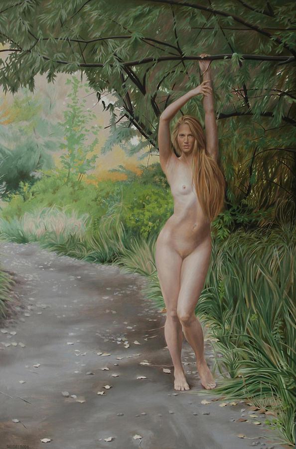 Female Nude Painting - Early Autumn by Seidai Tamura