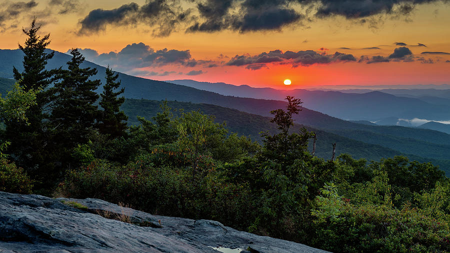 Blue Ridge Parkway Photograph - Blue Ridge Parkway Sunrise - Beacon Heights - North Carolina by Mike Koenig