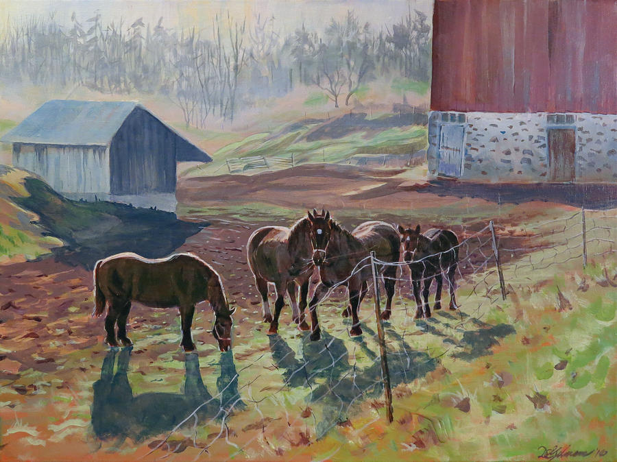 Early December at the Farm by David Gilmore