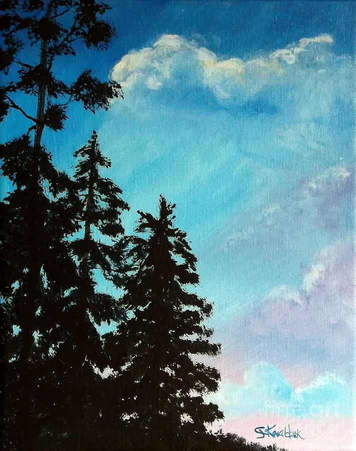 Sky Painting - Early Evening II by Carol Kovalchuk