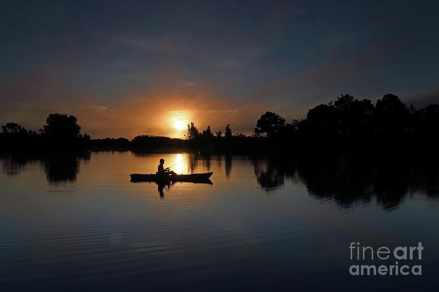 Sunrise Photograph - Early Fishing by Rick Mann