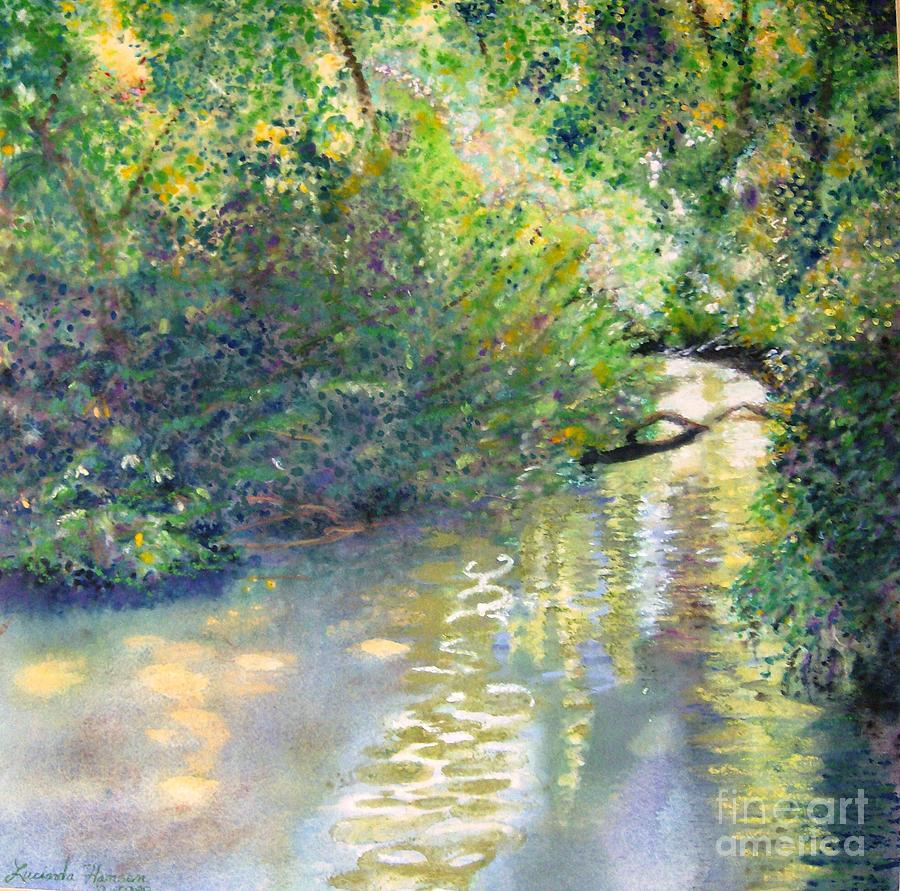 Water Painting - Early Glow by Lucinda  Hansen