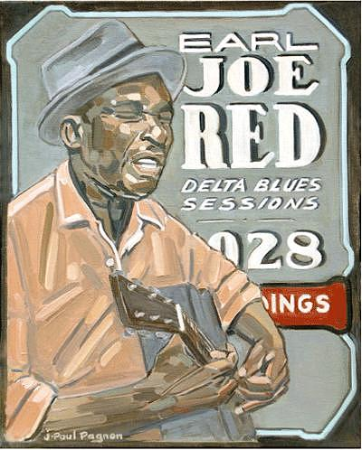 Early Joe Red Painting by Jean-paul PAGNON