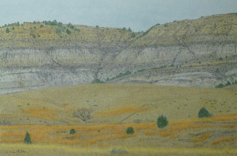 North Dakota Badlands Pastel - Early May On The Western Edge by Cris Fulton