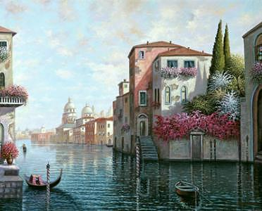 Early Moning In Venice Painting by Suleyman Mavruk