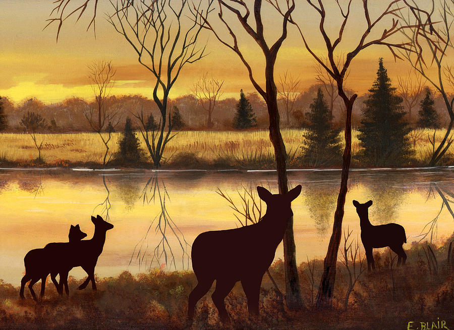 Early Morning Alert2 Painting by Eileen Blair