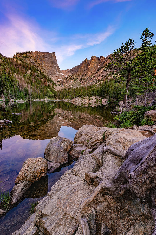 Early Morning at Dream Lake - Rocky Mountain National Park by Gregory Ballos