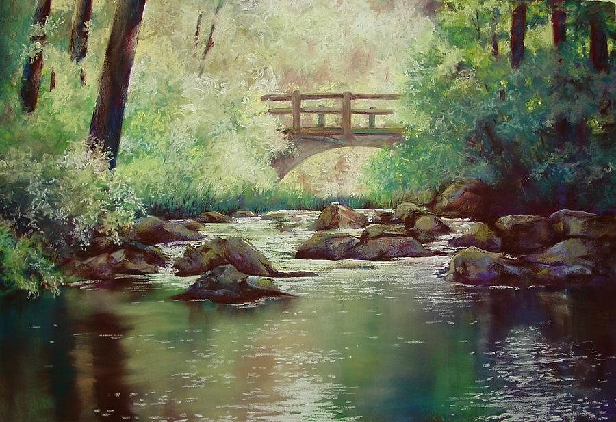 Landscape Pastel - Early Morning at Gulpha Gorge by Marlene Gremillion