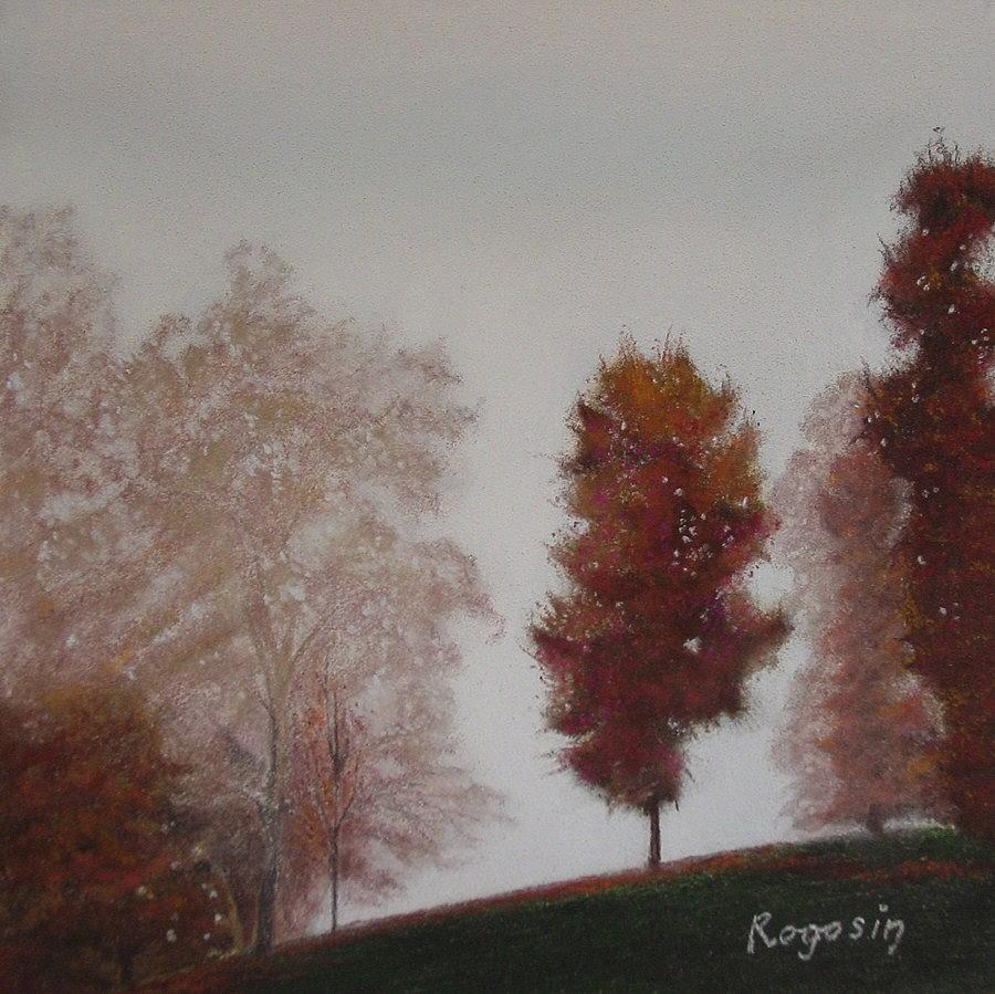 Landscape Pastel - Early Morning Calm by Harvey Rogosin