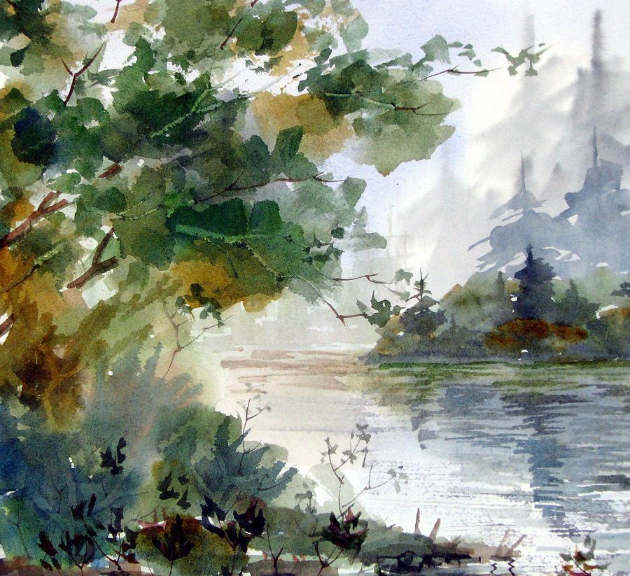 Watercolor Painting - Early Morning by Chito Gonzaga