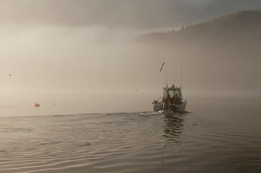 Places Photograph - Early Morning Fishing Boat by Chad Davis