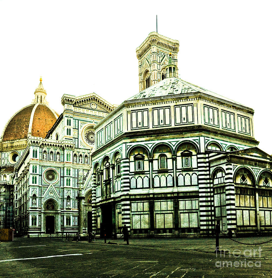 Florence Photograph - Early Morning Florentine Street by Emilio Lovisa