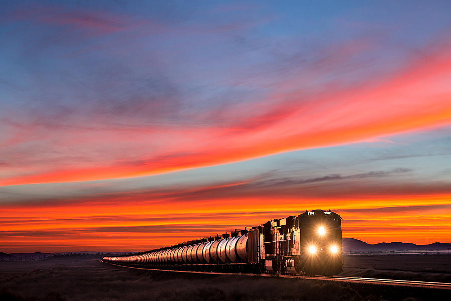 Train Photograph - Early Morning Haul by Todd Klassy