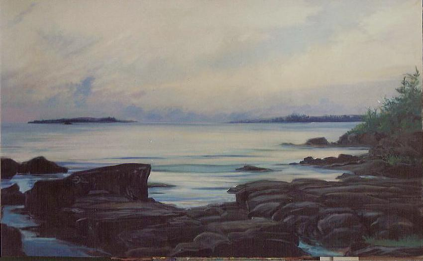 Landscape Painting - Early Morning In Maine by Marilyn Moskowitz
