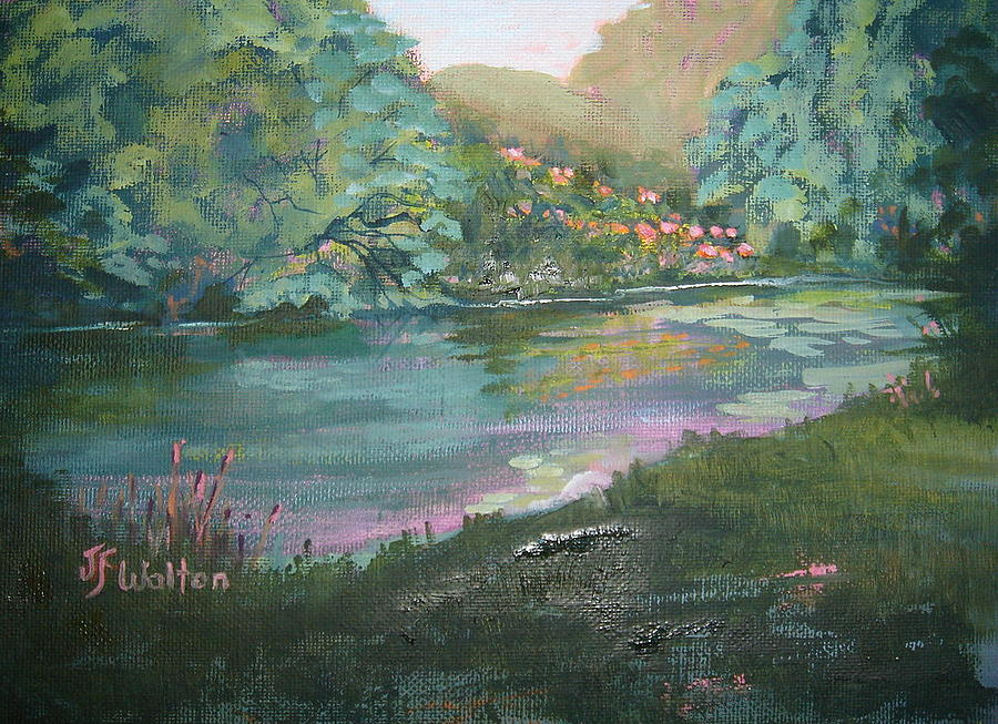 Day Lillies Painting - Early Morning Lilies by Judy Fischer Walton