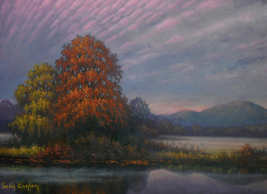 Landscape Painting - Early Morning Mist by Sean Conlon