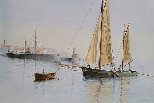 Marine Painting - Early Morning by Patrice Large