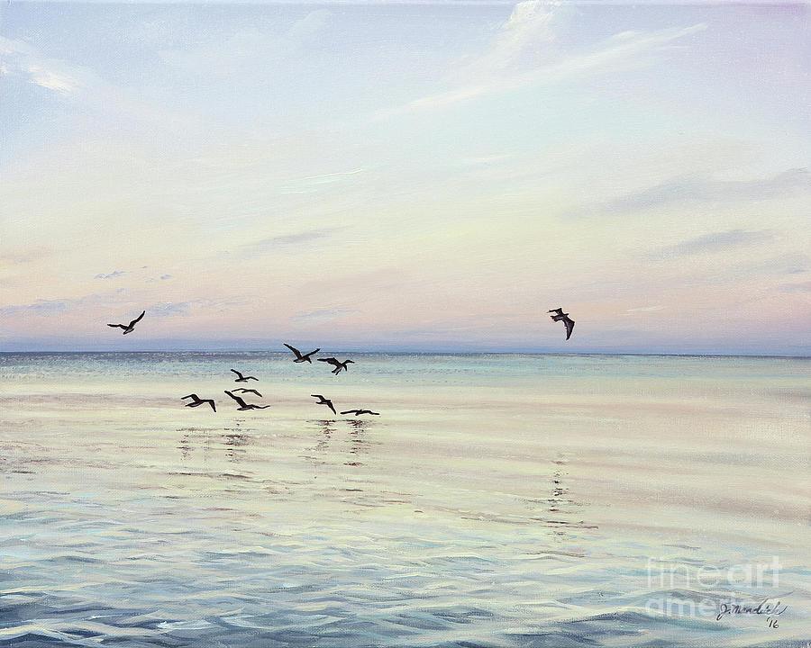 Florida Painting - Early Morning Patrol by Joe Mandrick