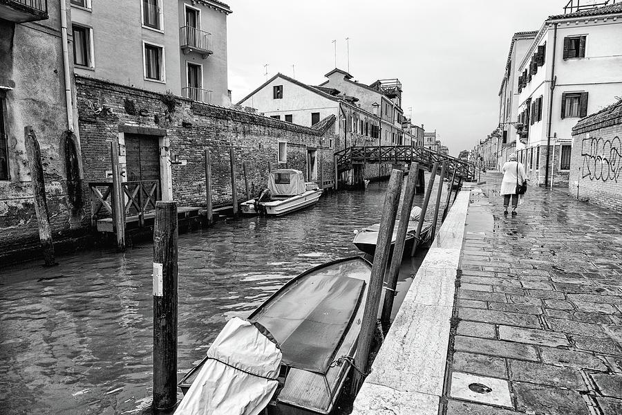 Canon Photograph - Early Morning Rain in Venice by John Hoey