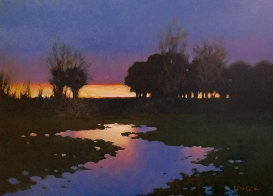 Rice Fields Painting - Early Morning Rice Fields by Kevin Lawrence Leveque