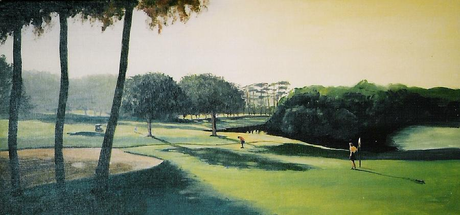 Landscape Painting - Early Morning Round by Barry Smith