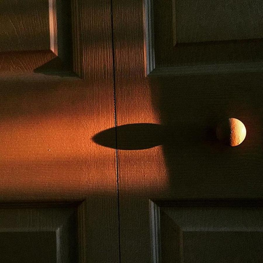 Door Photograph - Early Morning Shadows In My Room by Juan Silva