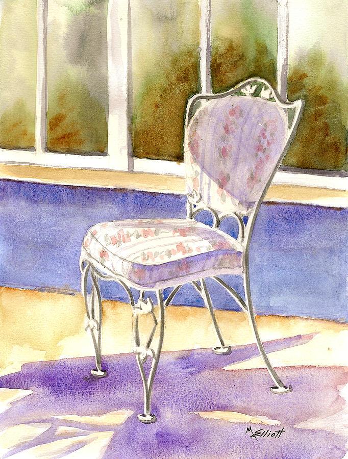 Chair Painting - Early Morning Shadows by Marsha Elliott