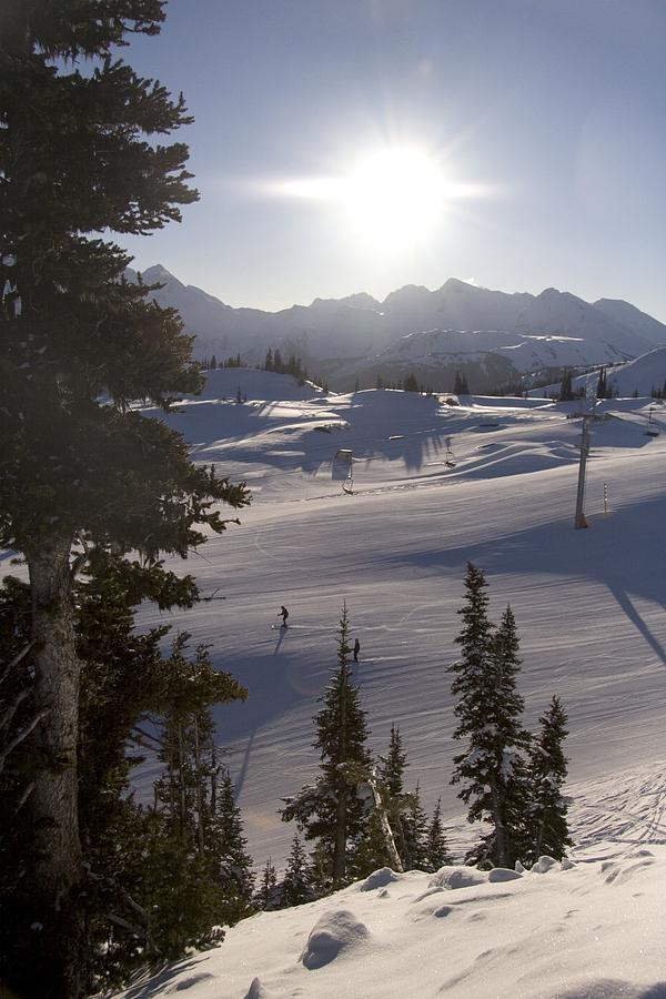 Sports Photograph - Early Morning Skiing by Taylor S. Kennedy