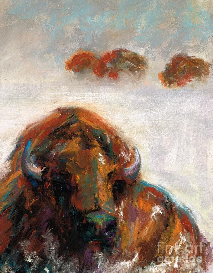 Buffalo Painting - Early Morning Snow by Frances Marino
