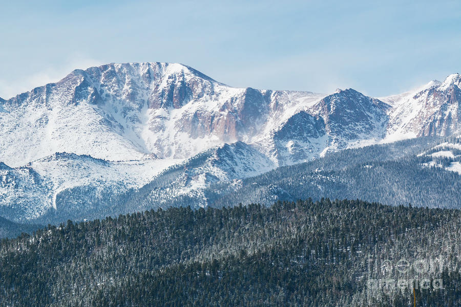 Early Morning Snow On Pikes Peak Photograph