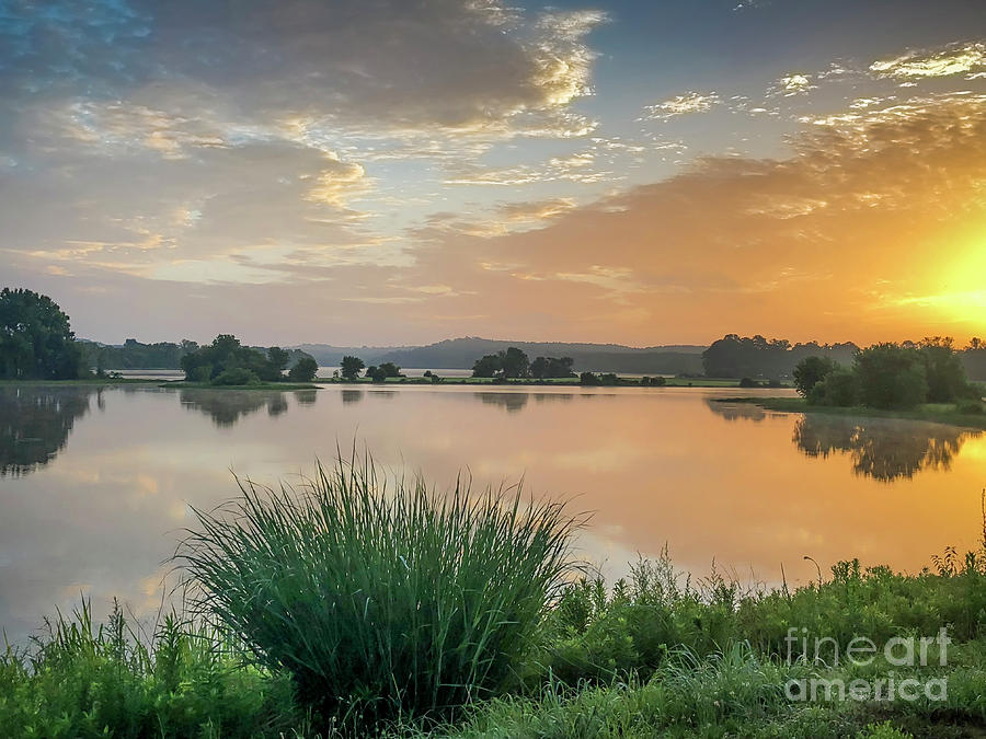Logan Martin Photograph - Early Morning Sunrise On The Lake by Ken Johnson