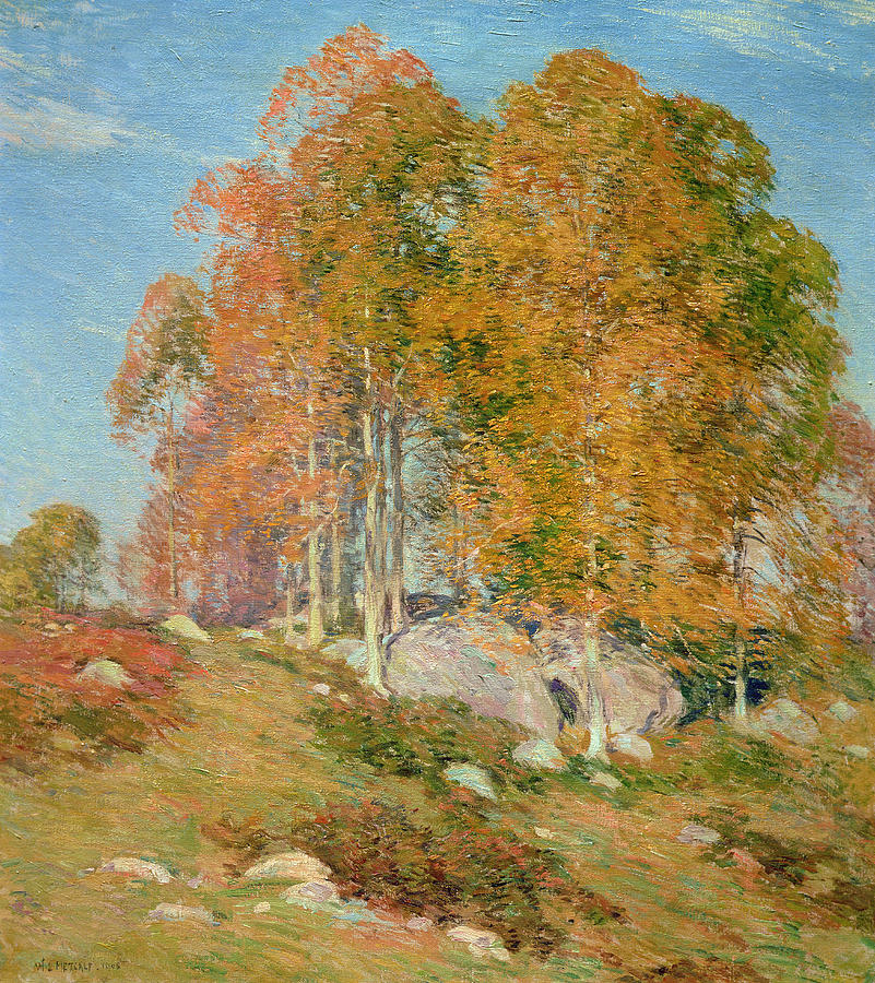 Early October Painting - Early October by Willard Leroy Metcalf