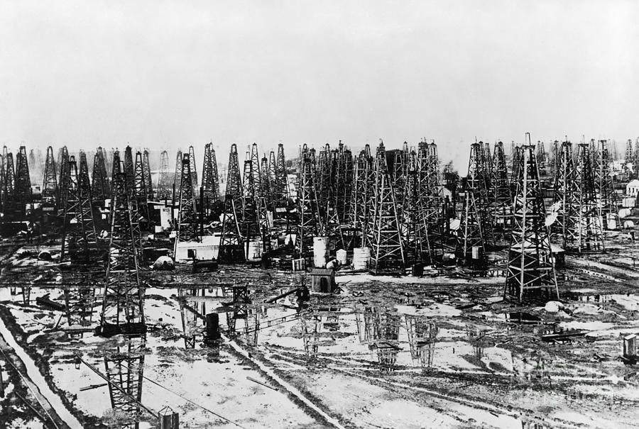 20th Century Photograph - Early Oil Field by Granger