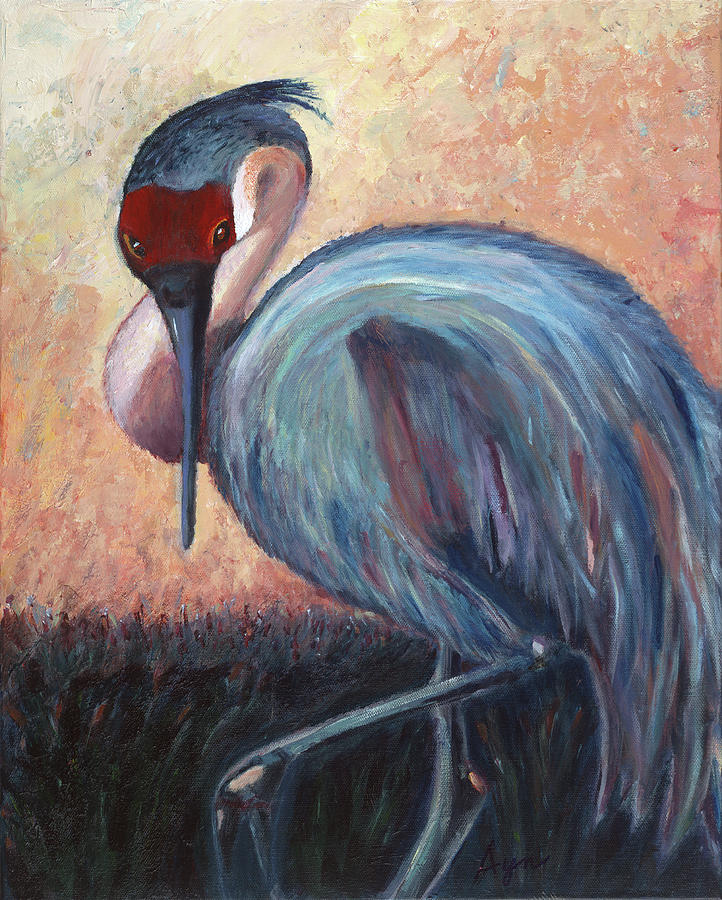Blue Painting - Early Riser by Ayn Lavagnino