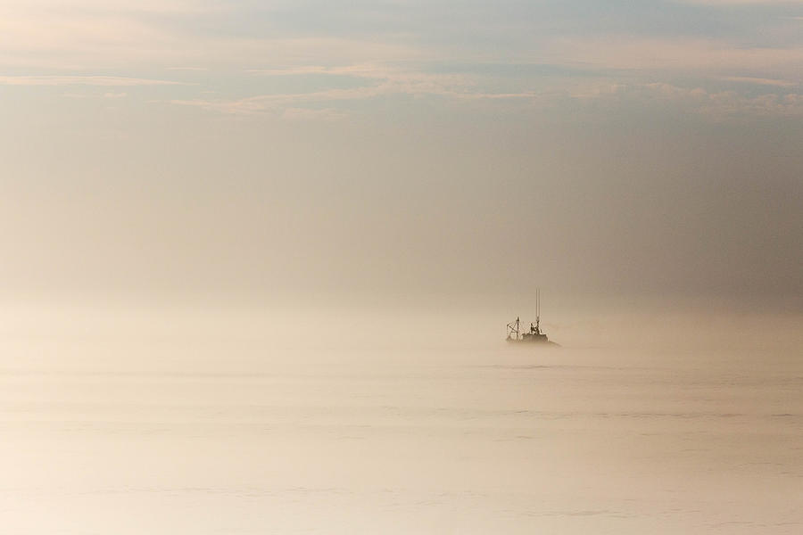 Early Rising Fishing Boat In Mist And Fog Photograph