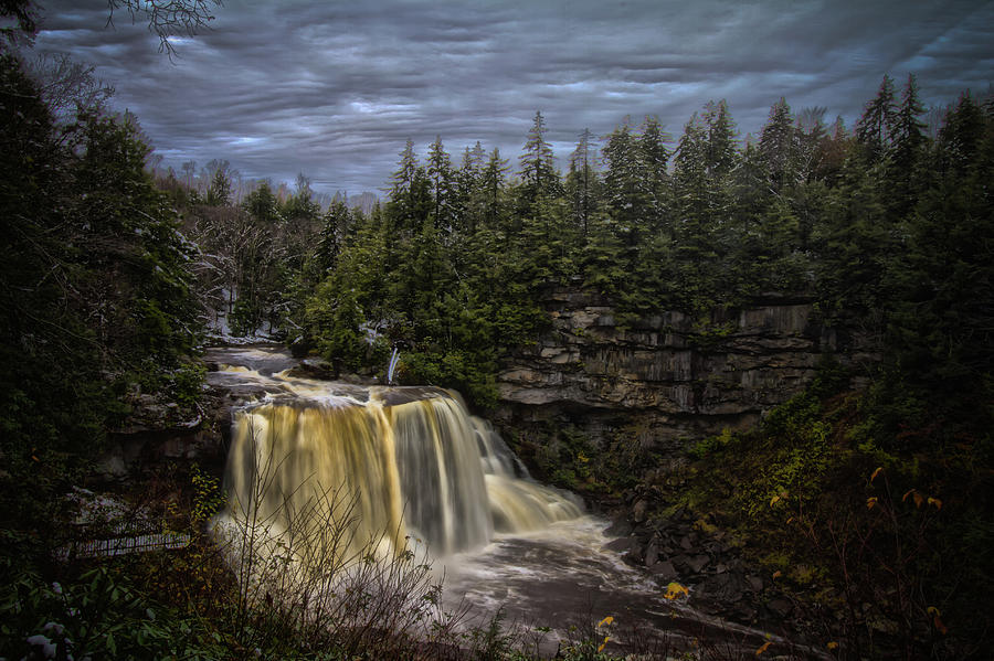 Early Snow at Black Water Falls by Daniel Houghton
