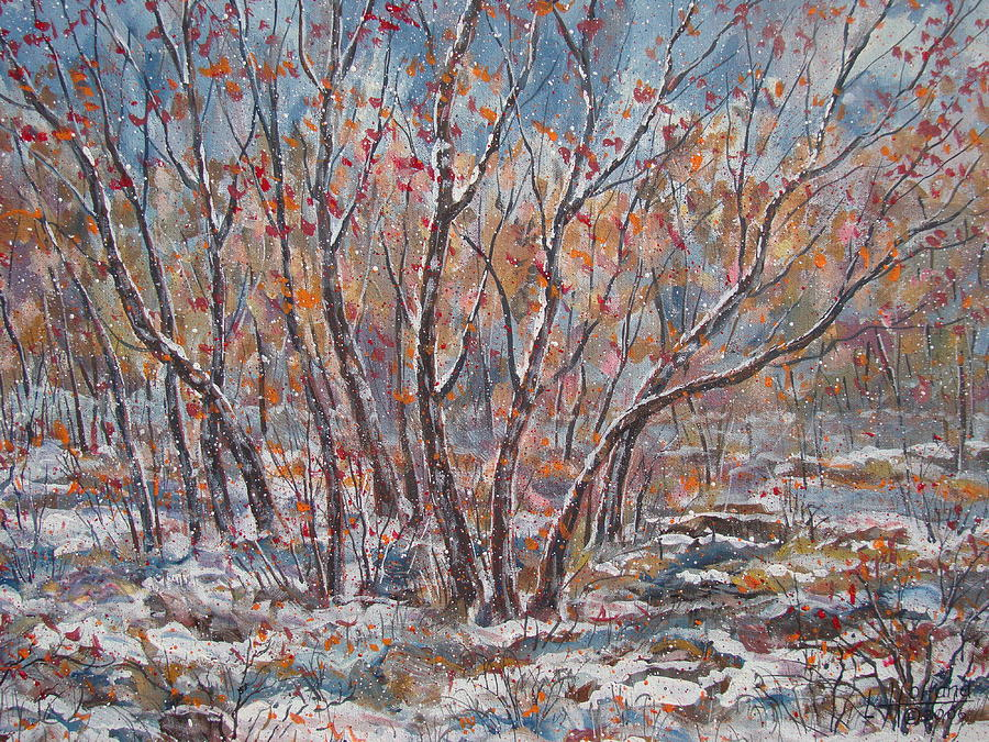 Landscape Painting - Early Snow. by Leonard Holland