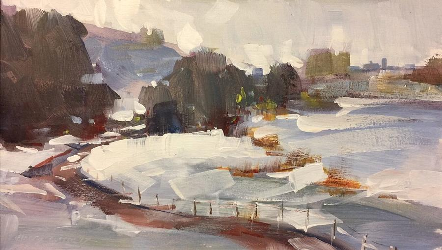 Landscape Painting - Early Snow by Marty Coulter