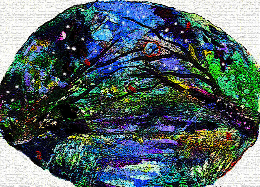 Forest Painting - Early Snow by Mindy Newman