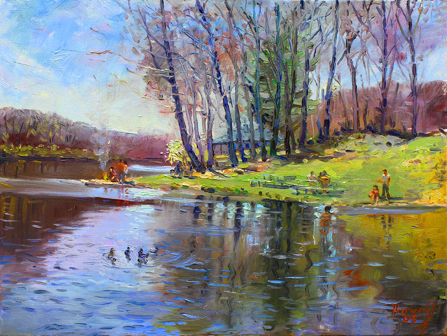 Early Spring In Bear Mountain Painting By Ylli Haruni
