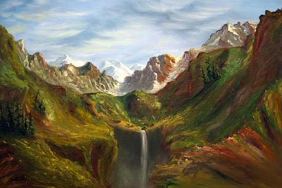 Mountains Painting - Early Spring by Ofelia  Arreola