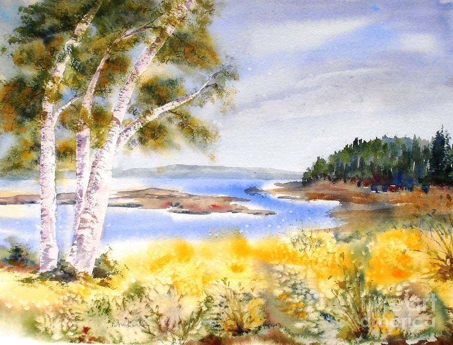 Early Summer Birches by Diane Kirk