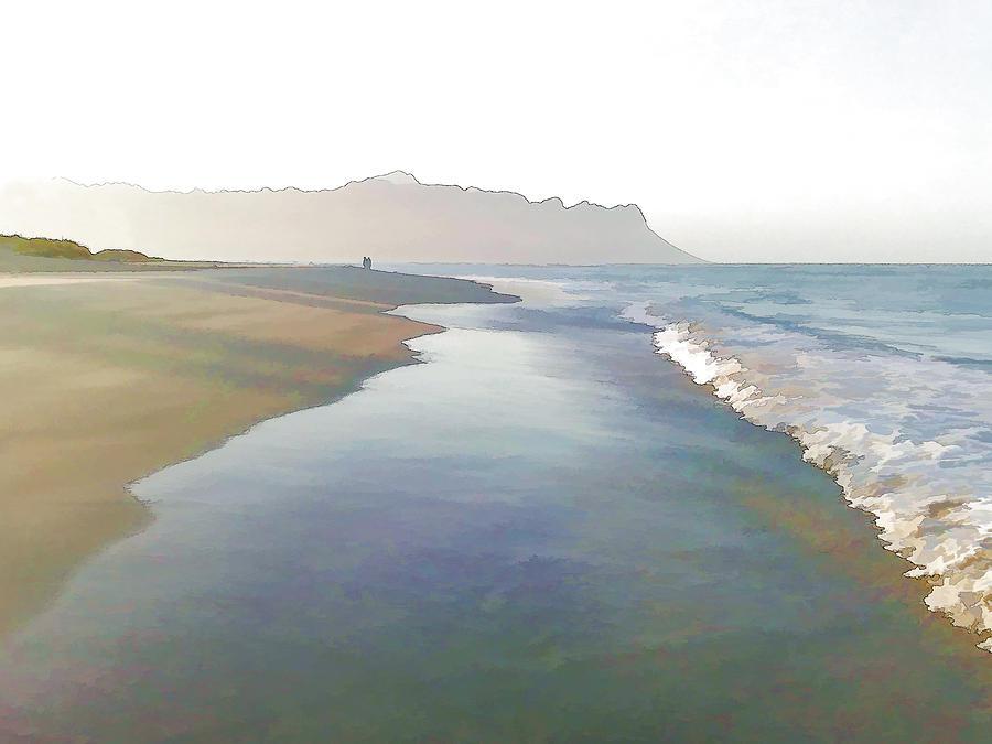 Sea Digital Art - Early Walk by Jan Hattingh