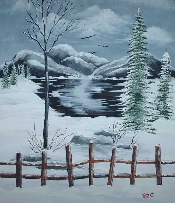 Early Winter Morning Painting by Brenda Coster